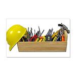 Hardhat Long Wooden Toolbox 22x14 Wall Peel