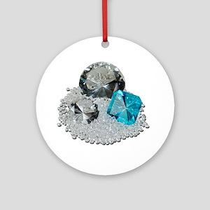 Large Diamond Gems Ornament (Round)