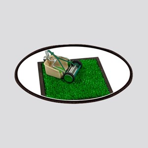 Lawnmower on the Grass Patches