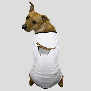 Leaned Back Bathtub Dog T-Shirt