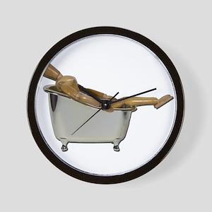 Leaned Back Bathtub Wall Clock