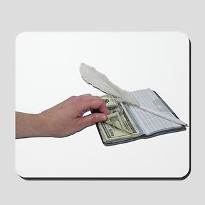 Money Checkbook Mousepad