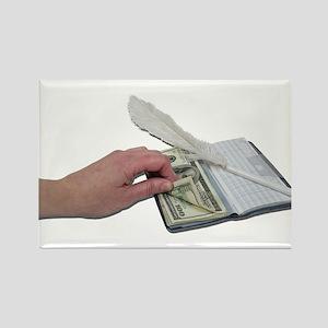 Money Checkbook Rectangle Magnet
