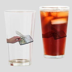 Money Checkbook Drinking Glass