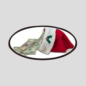 Money Pouring Santa Hat Patches