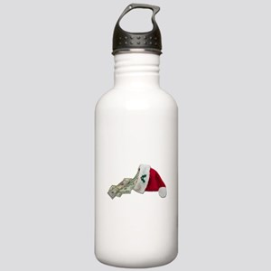 Money Pouring Santa Hat Stainless Water Bottle 1.0