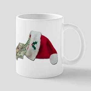 Money Pouring Santa Hat Mug