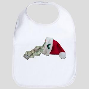 Money Pouring Santa Hat Bib