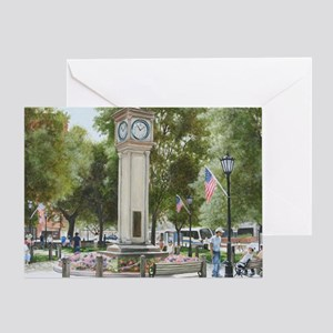 Greeting Card (1): Clock on the Green