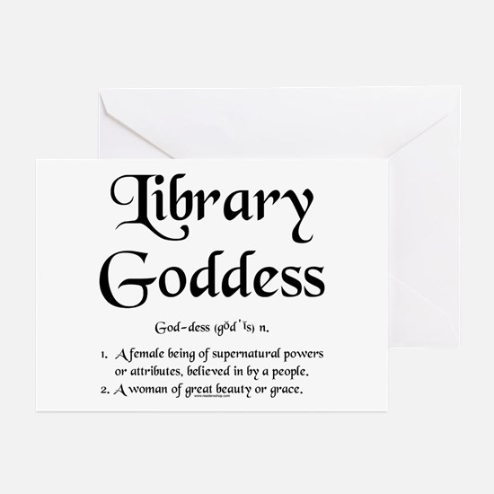 Library Goddess Defined Greeting Cards (Pk of 10)
