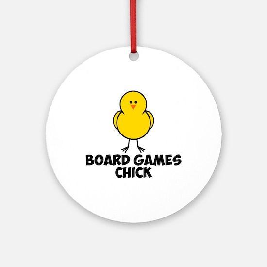 Board Games Chick Ornament (Round)