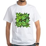Through the Leaves Watercolor White T-Shirt