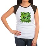 Through the Leaves Watercolor Women's Cap Sleeve T