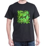 Through the Leaves Watercolor Black T-Shirt