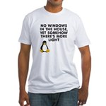 No windows Fitted T-Shirt