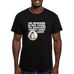 No windows Men's Fitted T-Shirt (dark)