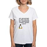 No windows Women's V-Neck T-Shirt