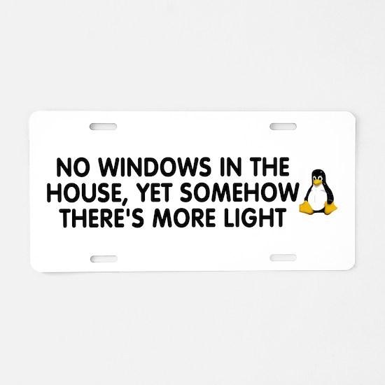 No windows Aluminum License Plate