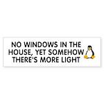 No windows Sticker (Bumper 10 pk)