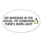 No windows Sticker (Oval 10 pk)