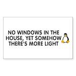 No windows Sticker (Rectangle)