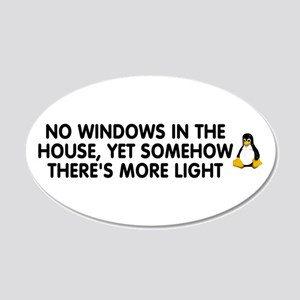 No windows 22x14 Oval Wall Peel