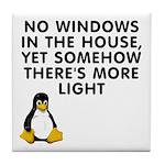 No windows Tile Coaster