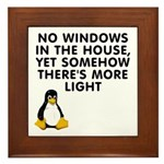 No windows Framed Tile