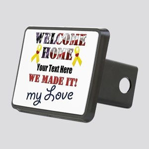 Personalize it- Welcome Ho Rectangular Hitch Cover