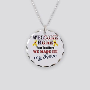 Personalize it- Welcome Home Necklace Circle Charm