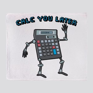 Calc You Later Throw Blanket