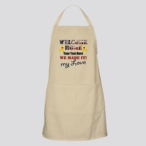 Personalize it- Welcome Home My Love Light Apron