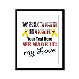 Personalize it- Welcome Home My Framed Panel Print