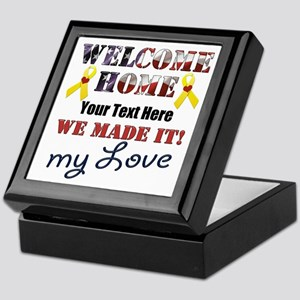 Personalize it- Welcome Home My Love Keepsake Box