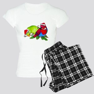 Parrots Christmas Women's Light Pajamas