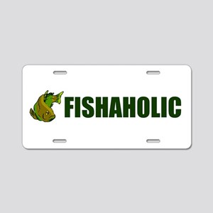 FISHAHOLIC Aluminum License Plate