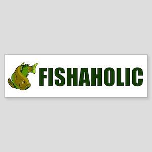 FISHAHOLIC Sticker (Bumper)