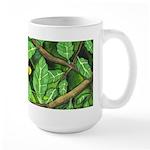 Through the Leaves Watercolor Large Mug