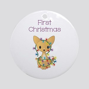 1st CHRISTMAS Round Ornament