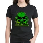 Green Skull Women's Dark T-Shirt