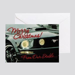 Mustang Greeting Cards Cafepress