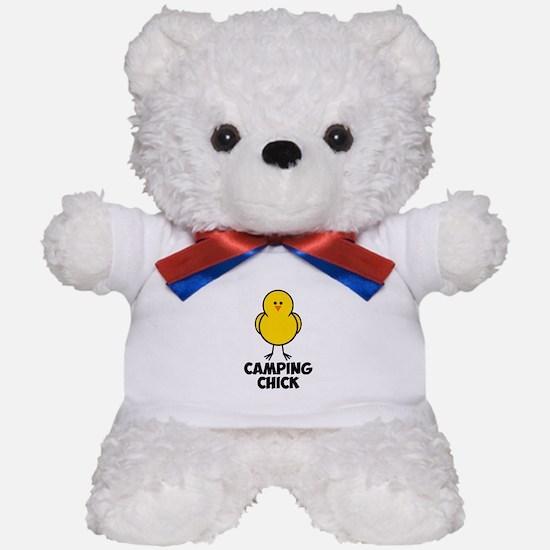 Camping Chick Teddy Bear