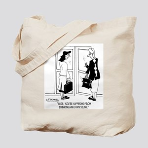 Embarrassing Static Cling Tote Bag