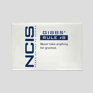 NCIS Gibbs' Rule #8 Rectangle Magnet
