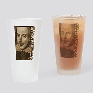 Droeshout's Shakespeare Drinking Glass