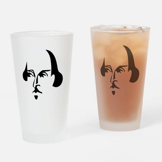 Simple Shakespeare Drinking Glass