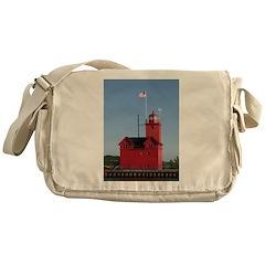 Holland Harbor Lighthouse Messenger Bag