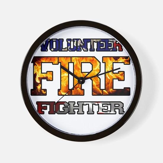 Volunteer Firefighter Wall Clock