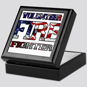 Volunteer Firefighter Keepsake Box