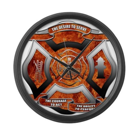 Firefighter Large Wall Clock